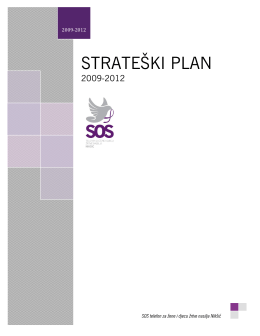 strateški plan 2009-2012