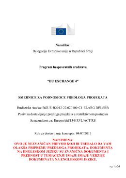 Smernice EU Exchange 4 GS NEZVANIČAN PREVOD621Kb (PDF)