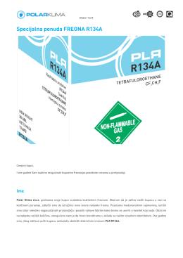 Specijalna ponuda FREON a ponuda FREONA R134A