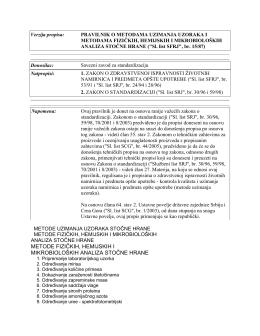 metode fizičkih, hemijskih i mikrobioloških analiza stočne hrane