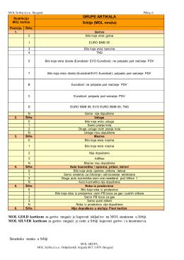 Prilog 6 - Grupe artikala (pdf, 457 kB)