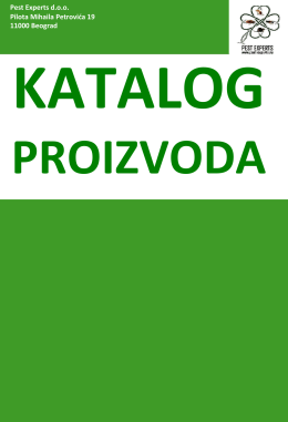 Katalog proizvoda - Pest Experts doo