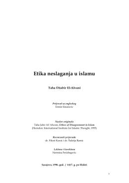 Etika neslaganja u islamu
