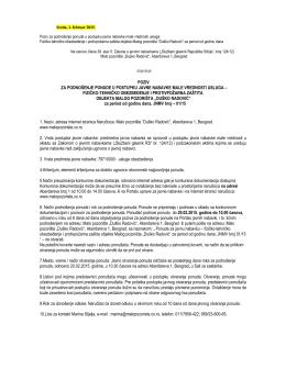 Poziv za ponudu - Pozorište Duško Radović