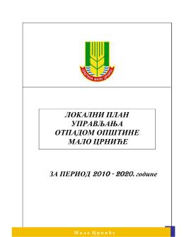 Lokalni plan upravljanja otpadom