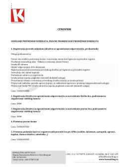 Cenovnik PDF fajl - Konsalting Aktiv