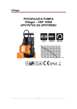 POTAPAJUĆA PUMPA Villager – VSP 10500 - Oleo-Mac