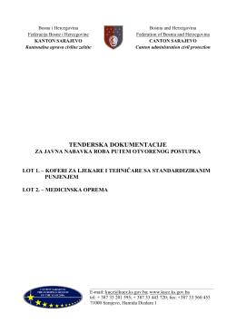 tenderska dokumentacija nabavka_lot 1 koferi za ljekare i tehničare