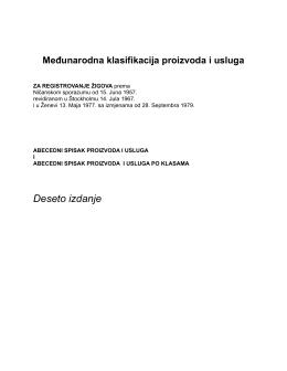 abecedni popis proizvoda - Zavod za intelektualnu svojinu Crne Gore