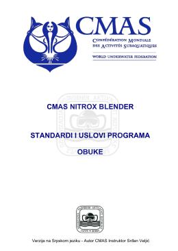 Specijalistički kurs CMAS Nitrox Blender