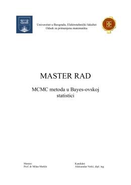 MCMC metoda u Bayes-ovskoj statistici