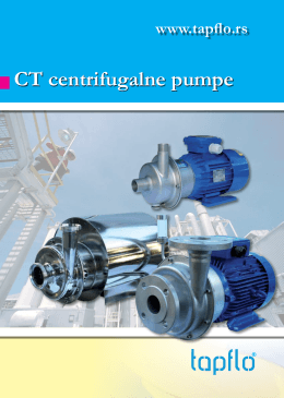 CT centrifugalne pumpe