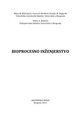 bioprocesno inženjerstvo