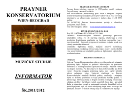 prayner konservatorium informator