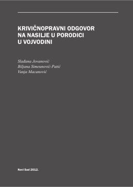 Krivičnopravni odgovor na nasilje u porodici u Vojvodini