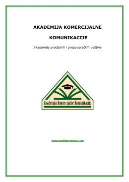 Celokupan program Akademije komercijalne