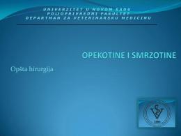 8. Opekotine i smrzotine, Krvarenje i hemostaza.pdf