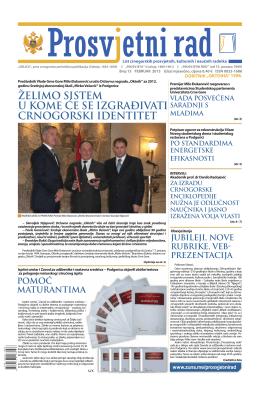 """""""PROSVJETNI RAD"""" broj 13 (februar 2013.)"""