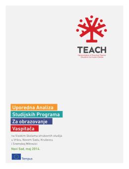 Komparativna analiza studijskih programa TEACH 2014