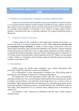 Mikrobiološka dijagnoza pneumokoknih invazivnih bolesti (IPB) 1