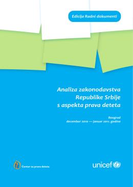 Analiza zakonodavstva RS_novi prelom.indd - UNICEF-a