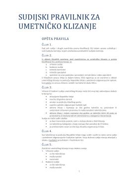 Sudijski pravilnik - Klizački Savez Srbije