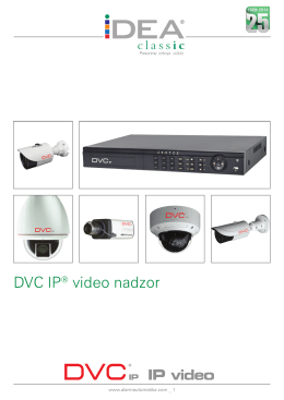 DVC IP® video nadzor - D
