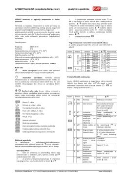 Uputstvo za upotrebu i ugradnju AF 916DT
