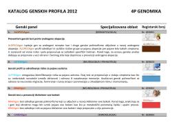 OVDE kompletan katalog - ELPIDA Preventivna genomika