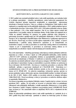 Izvod iz informacije sa press-konferencije