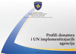 Profili donatora i UN implementirajucih agencija