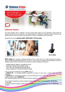 BBTF, OPEN ADSL i IPTV ponudu.