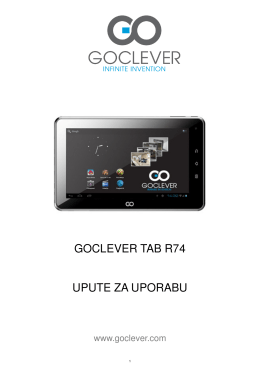 GOCLEVER TAB R74 UPUTE ZA UPORABU