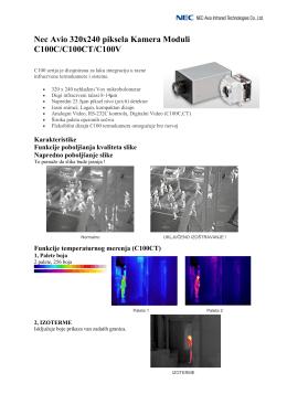 """""""Nec Avio C100 - termovizija u preventivnoj zaštiti ljudi"""