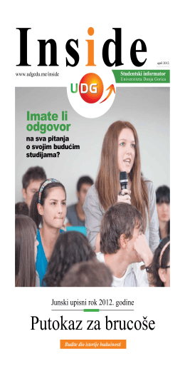 Inside - Univerzitet Donja Gorica