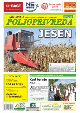 Sremska poljoprivreda broj 24 27. septembar 2013.