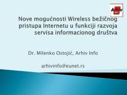 """""""Nove mogucnosti Wifi pristupa Internetu"""", Prof. Dr"""