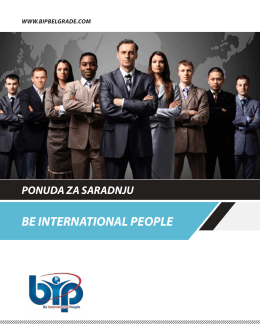 BE INTERNATIONAL PEOPLE