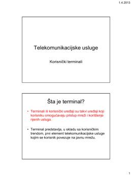 Telekomunikacijske usluge