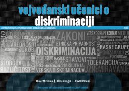 Vojvođanski učenici o diskriminaciji - izveštaj (2012)