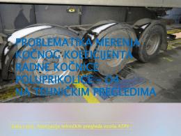 problematika merenja kočnog koeficijenta radne kočnice poluprikolice