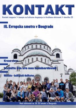16. Evropska smotra v Beogradu - Srpsko kulturno društvo Maribor