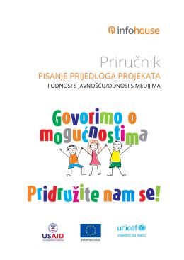 """Priručnik """"PISANJE PRIJEDLOGA PROJEKATA I"""