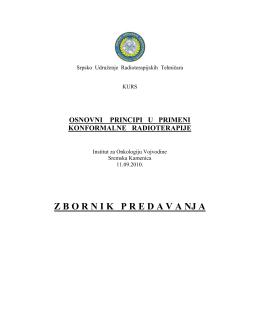 Osnovni principi u primeni komformalne radioterapije 11.9.2010