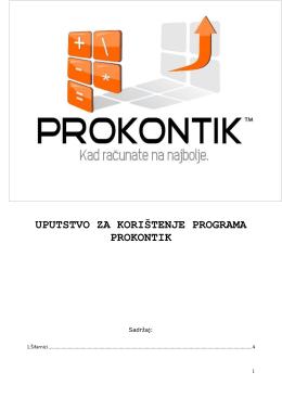 Uputstvo za koristenje proizvodnje