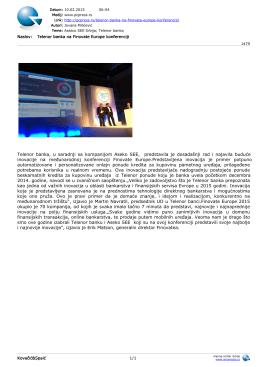 Telenor banka, u saradnji sa kompanijom Aseko SEE