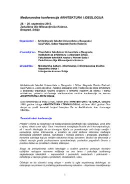 Program - Docomomo Serbia