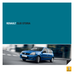 Renault Clio Storia Katalog
