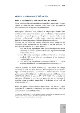 Obuka / edukacija IBR osoblja