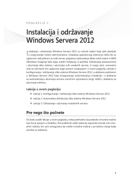 Instalacija i održavanje Windows Servera 2012